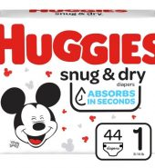 Huggies Snug & Dry Diapers, Size 1, 44 Ct